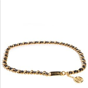 Chanel Lambskin Chain 31 Rue Cambon Medallion Belt